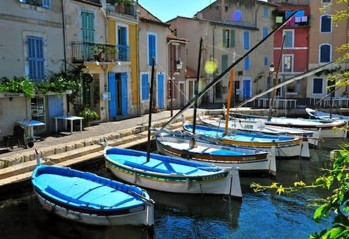 Entre mer et étang, 70 m2, climatisé, parking ! - Martigues - Huoneisto