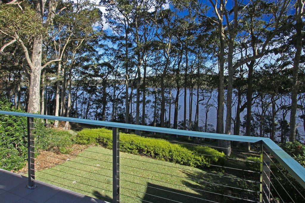 View of Burill Lake from back verandah
