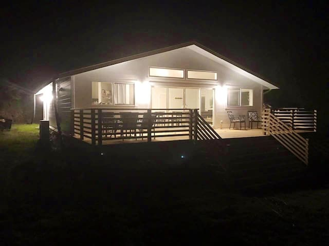 Modern home on 10 acres, 5 minute walk downtown