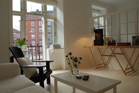 Private entrance, kitchen, living room and bedroom - Copenhague