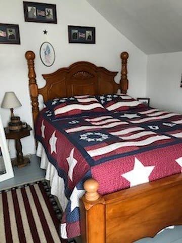 Second Floor:  Bedroom Number 2, Queen bed.