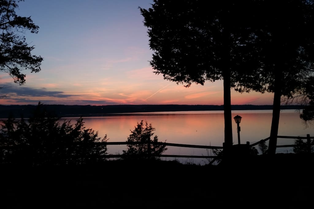 Watch the beautiful sunsets over the West side of Owasco Lake.
