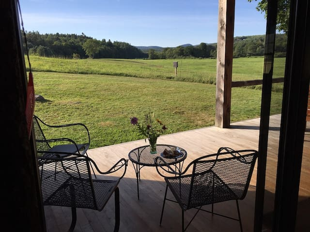 Back porch and view across fields