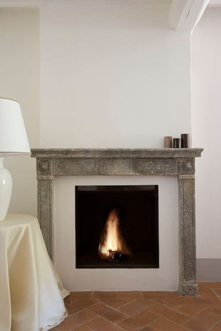 fireplace in the sittiing room