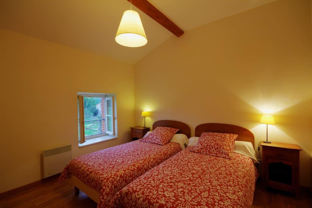 Chambre Igor et ses lits jumeaux