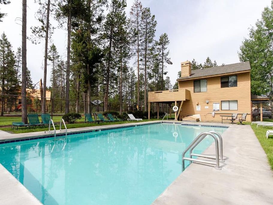 Fairway Village pool - it is not nearly as crowded as the Sunriver Resort pools.