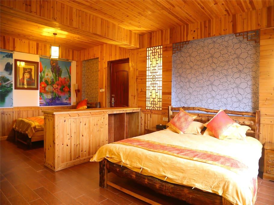 【温馨如意】三人家庭房大床+小床