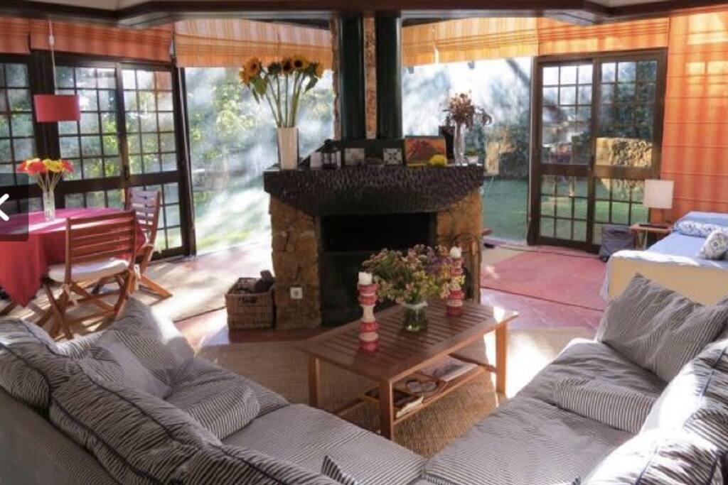 Living room, looking into garden