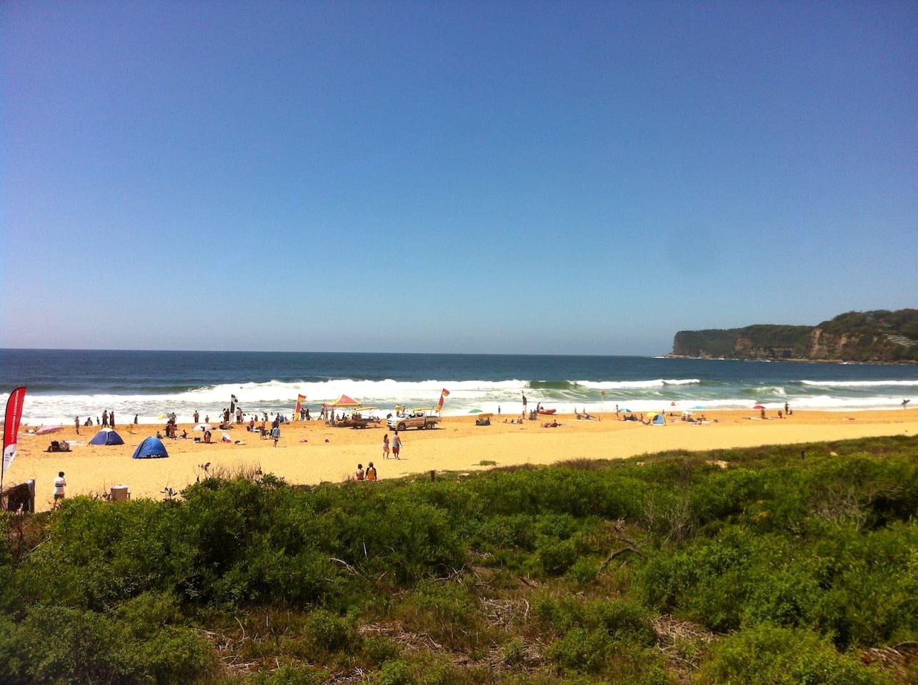 North Avoca Beach only a 3 min walk away.