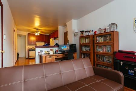 Private room near Belmont CTA w/parking permit - Chicago - Wohnung