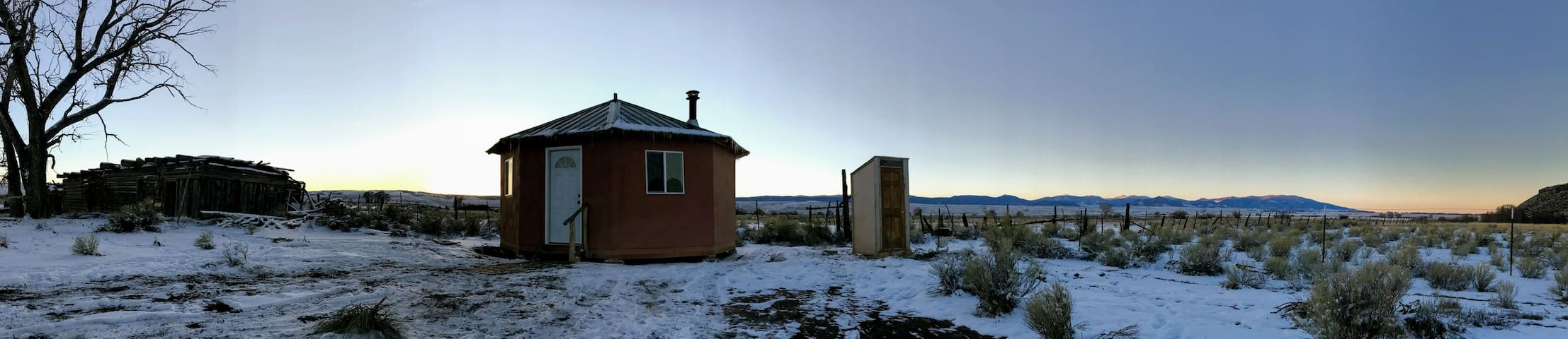 The hard sided yurt that you get to enjoy during your stay.