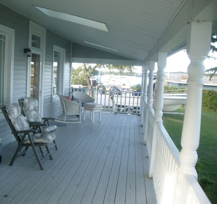 A Private Covered Porch for you to Relax & Enjoy the River Views