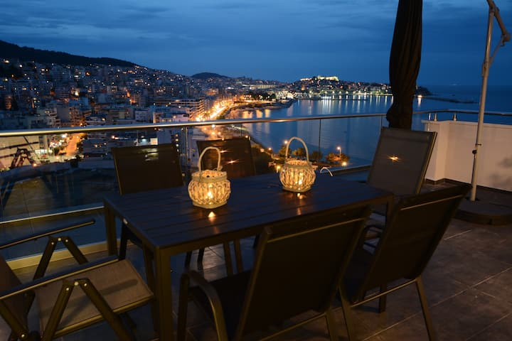 Roof Loft Luxury Apartment - 360 Kavala View