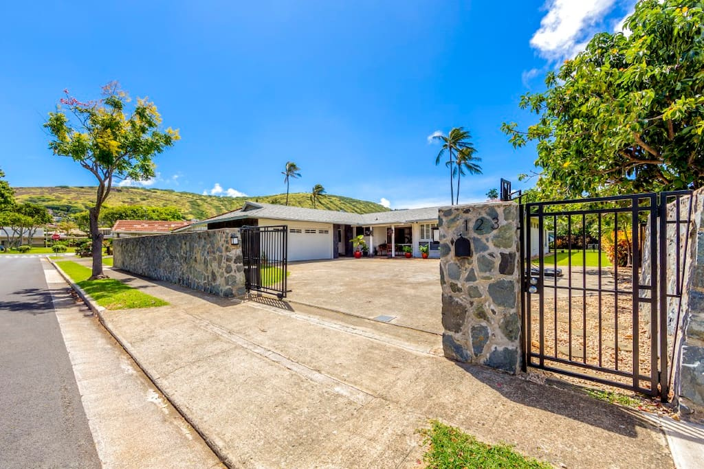 The home is completely fenced and gated for privacy and safety.