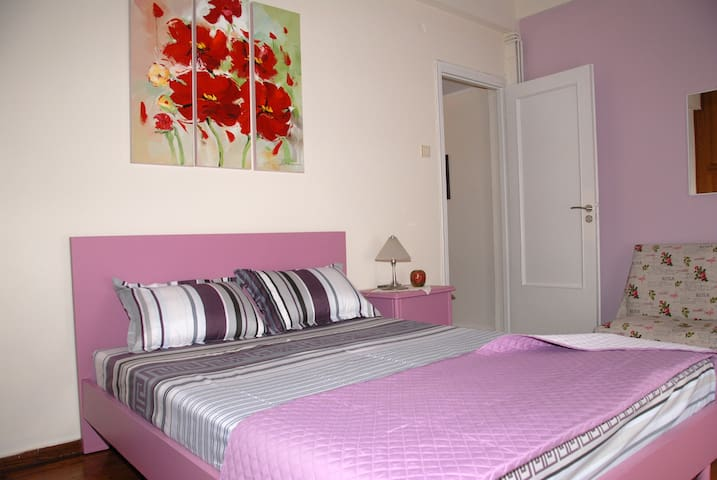 The main bedroom with the double bed