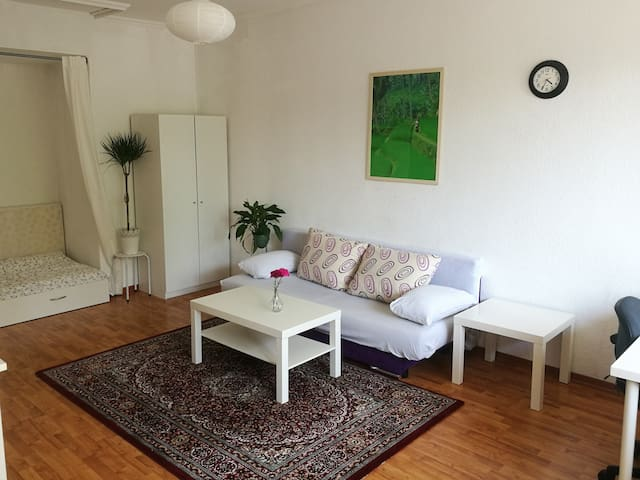 Central Apartment with Balcony-Easy access to fair