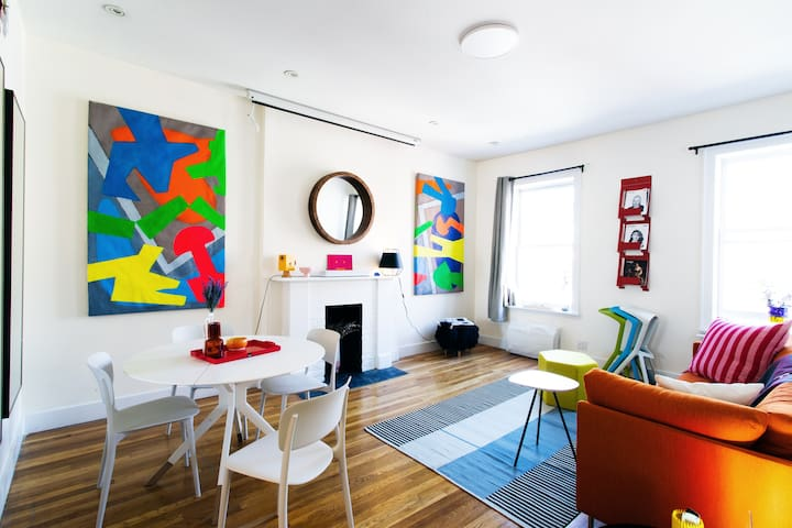 Colorful Modern Apartment in Greenwich Village