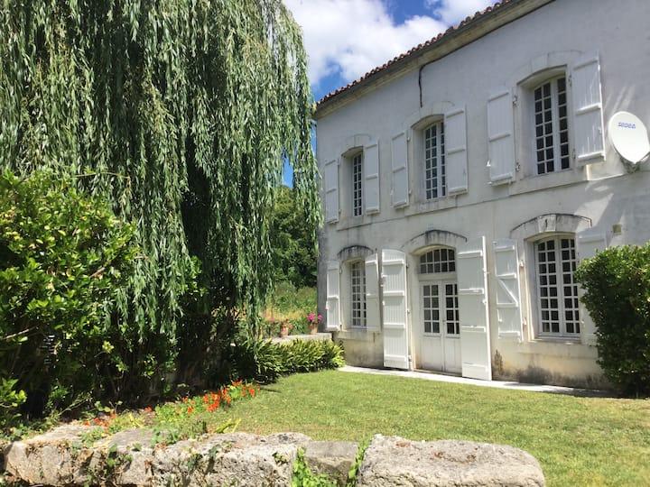 Maison du Pont Riverside B+B~Bedroom 1 ~ Le Jardin