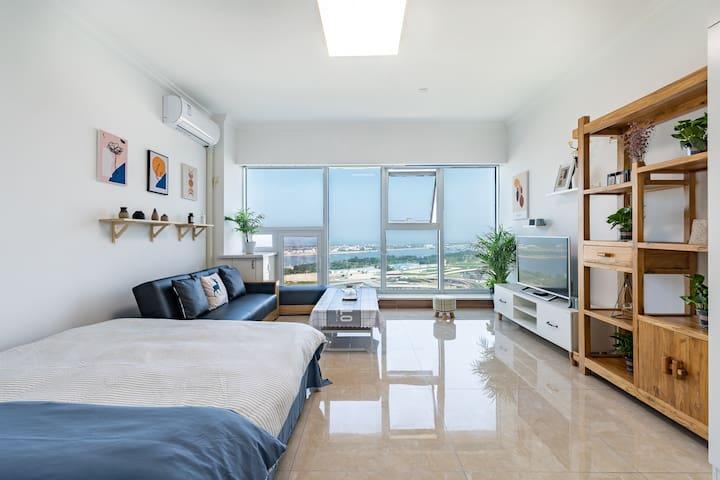 【闻里】无敌海景|太阳广场|万平口|东夷小镇|万达广场|独立公寓|专业管理清洁