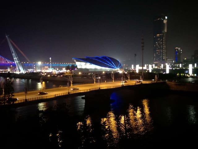 美丽阳台夜景 ----贝壳博物馆