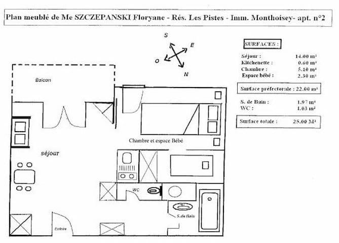 Appartement, situé plein Sud avec terasse