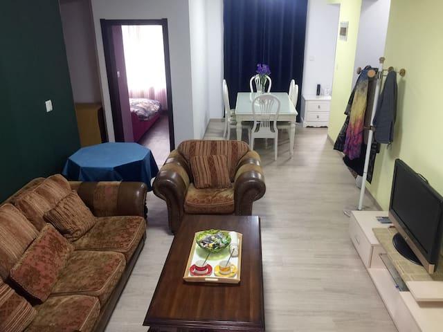 【薇安公寓】火车站附近无锡瑞城国际简欧两居度假公寓 - Wuxi - Leilighet