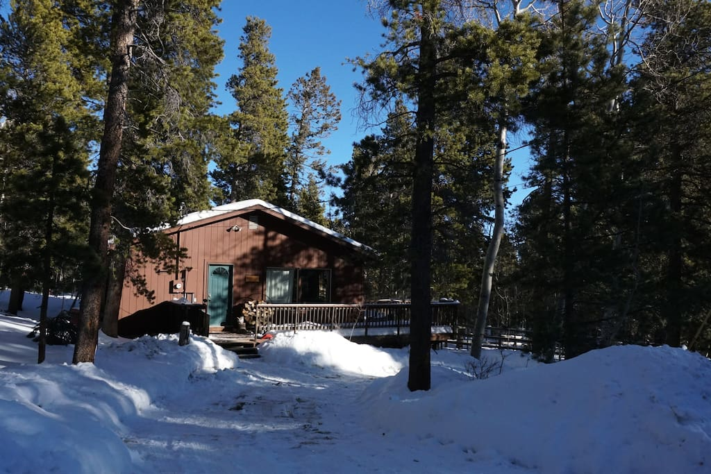 Cozy mountain cabin in quiet neighborhood that borders national forest.