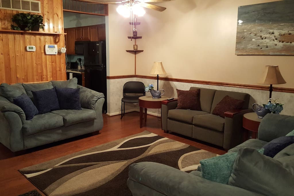 Common area shared living room.
