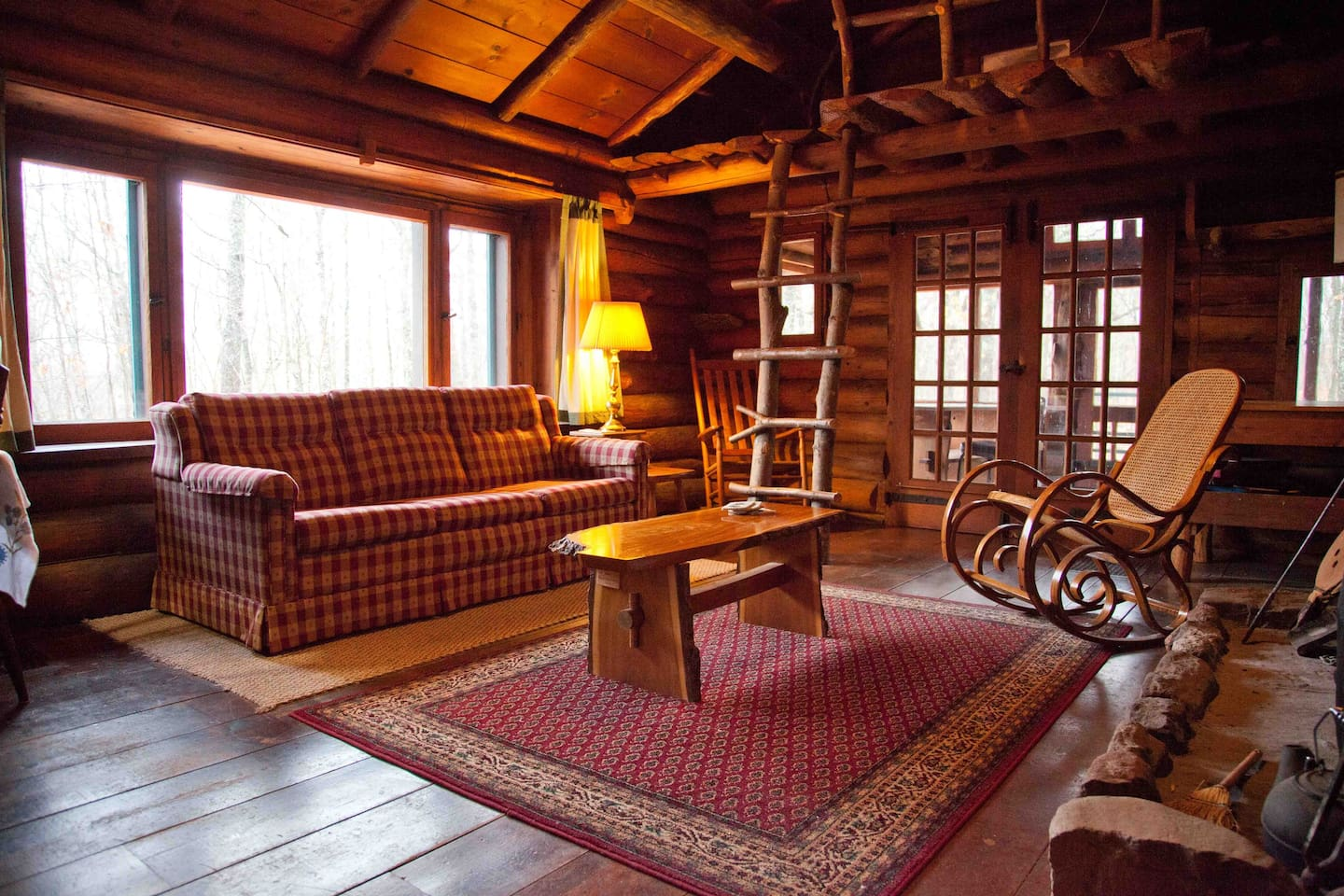 Log Cabin Rustic Living Room Large Stock Photo  Log Cabin -  cabin living room furniture