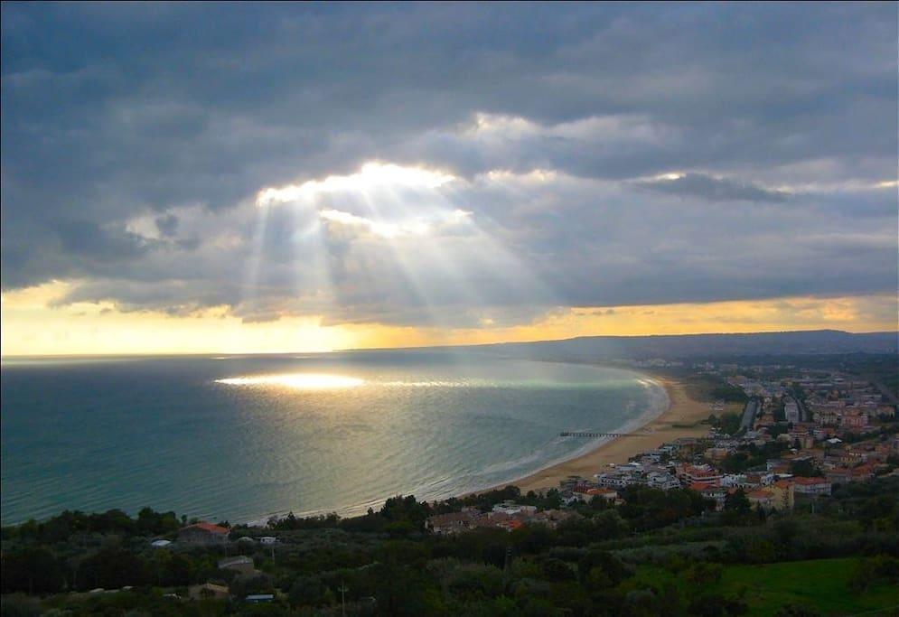 Wonderful view of VASTO BAY and BEACHES
