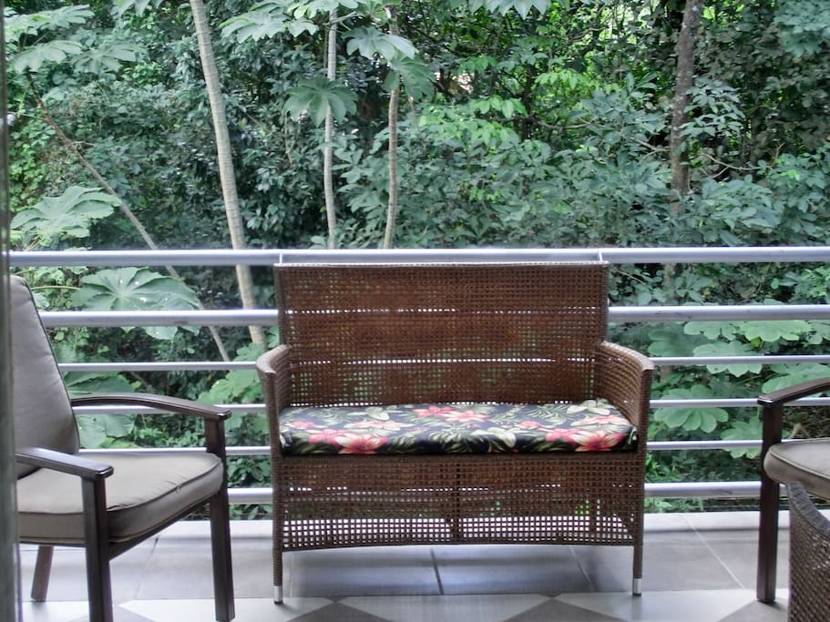Relax on quiet balcony listening to the surf, monkeys and birds