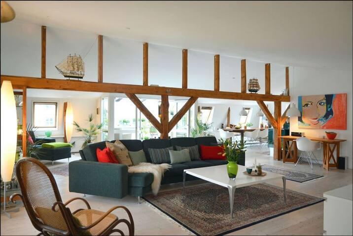 212 kvm New Yorker-loft i centrum af Aalborg