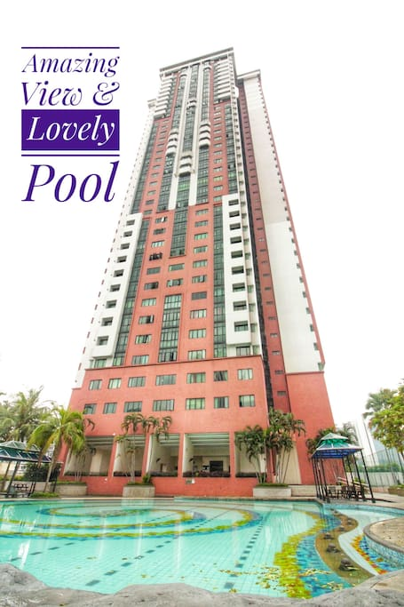 Towering view! This space is situated at high-floor overlooking the whole Kuala Lumpur City!