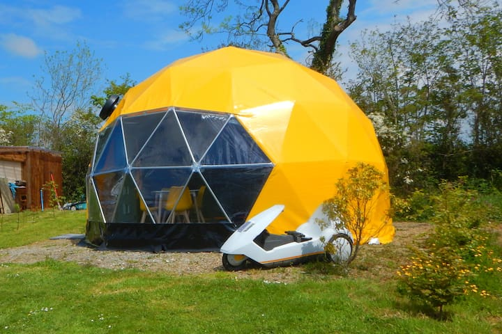 PAC MAN Geodesic Dome