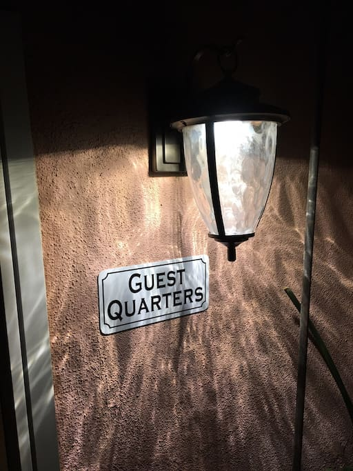 The Guest Quarters / Studio is clearly marked