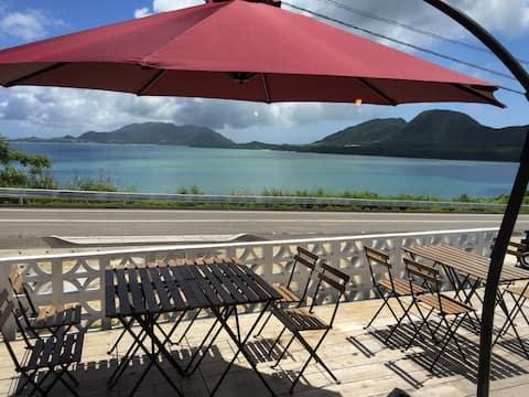 Cafe&Stay MareBlu【B】カフェ隣接の朝食が自慢のオーシャンビューのお部屋です。