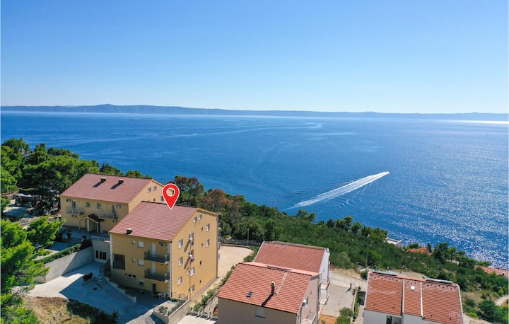 Beautiful home in Krvavica with WiFi and 1 Bedrooms