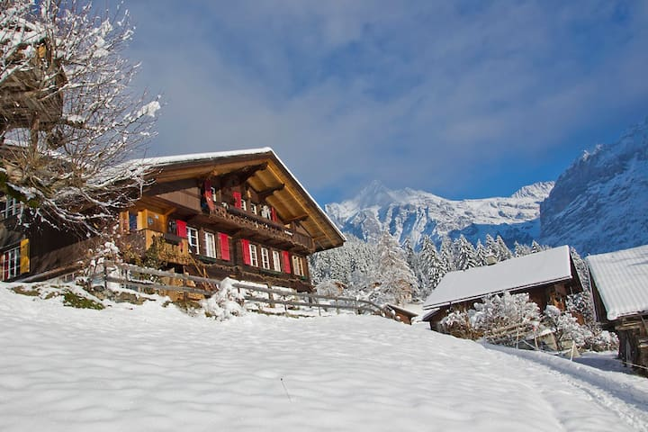 Heimeliges Holzchalet mit Blick auf den Eiger - Grindelwald - Bed & Breakfast