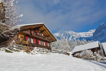 Heimeliges Holzchalet mit Blick auf den Eiger - Grindelwald