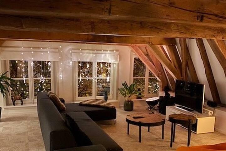 Luxe sfeervol appartement in historisch Deventer