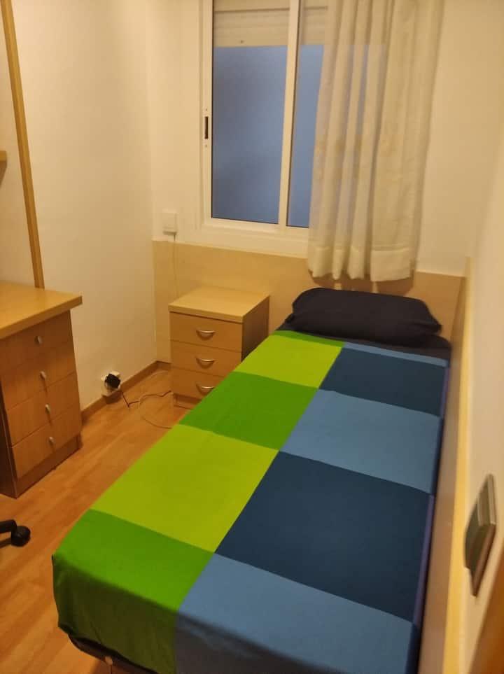 Habitación en ambiente familiar