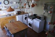 Kitchen with farmhouse table