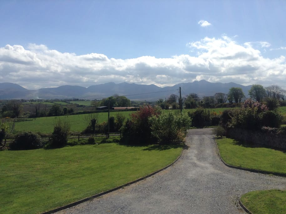 View from the house of the McGillycuddy Reeks.