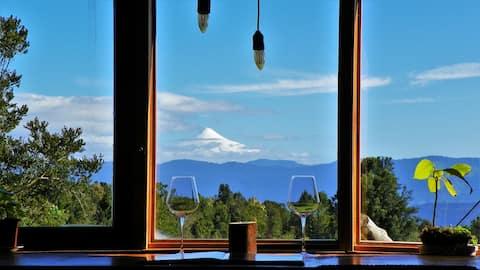 Yurt+ Breakfast in Puyehue with Volcano Views