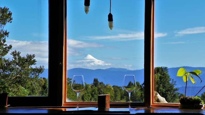Yurt+ Breakfast in Puyehue with Volcano Views