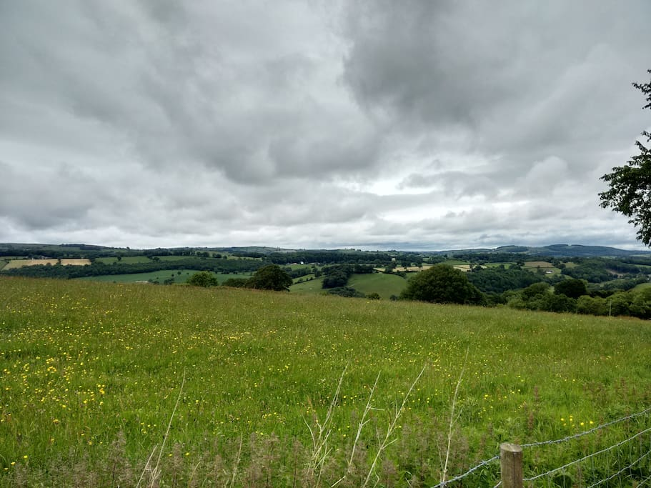 Views of the rolling hills of Mid-Wales