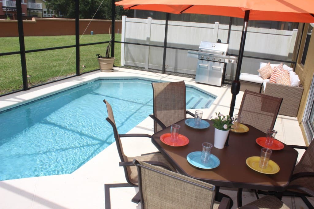 Dining Table, Furniture, Table, Pool, Water