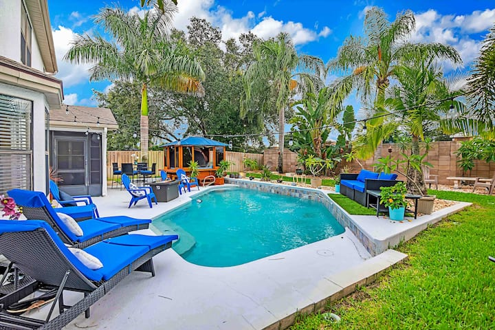 NEW LISTING! Urban Oasis w/Hot Tub, HEATED POOL and Private Movie Theater