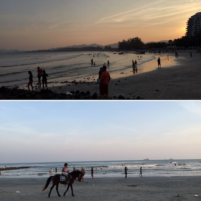 Khao Takieb Beach is much less crowded than the beaches in the same area. It's just a few minutes walk!!