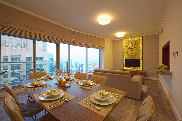Luxury 2 Bed with a view of Burj Khalifa